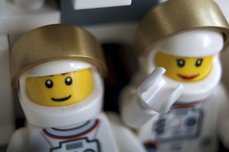 Lego couple in Space