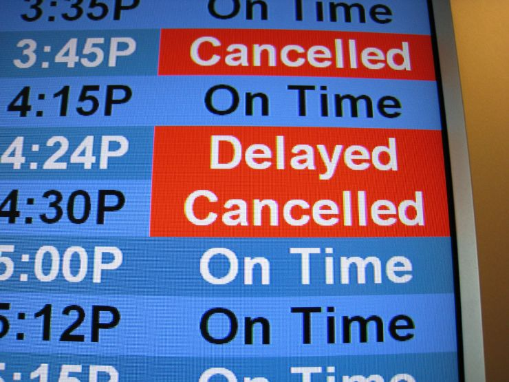 Delayed Flights Sign