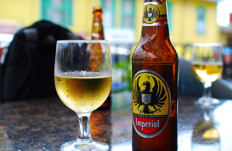 Imperial, the most popular Costa Rica beer