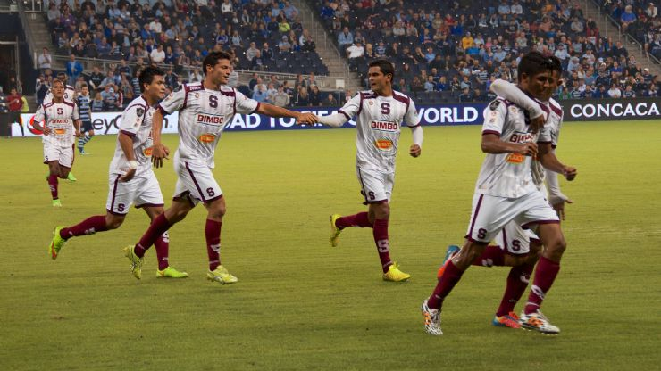 Saprissa players celebration