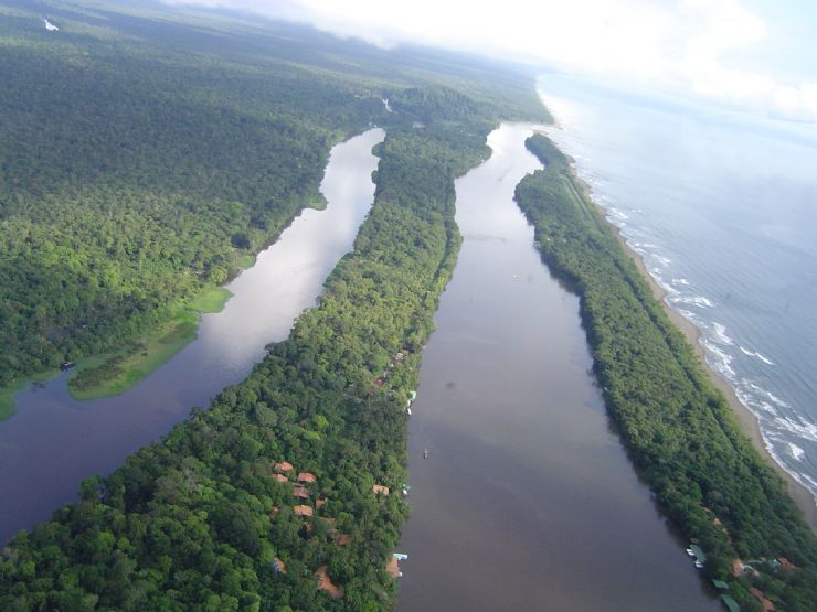 The Canals of Tortuguero National Park