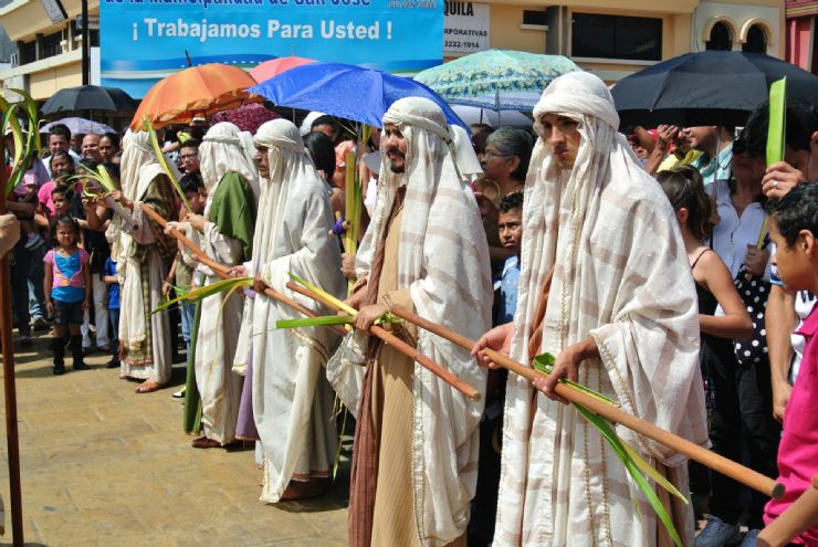 Actors in Semana Santa procession