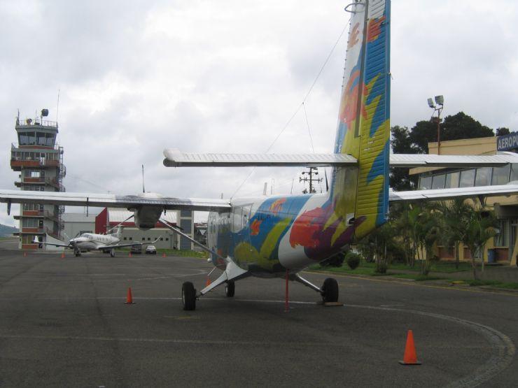 Nature Air Domestic Plane at Juan Santamaria International Airport