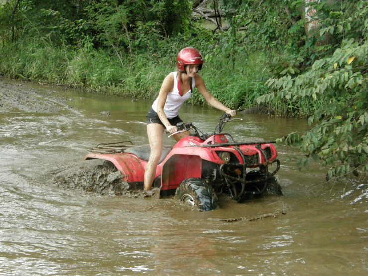 Crossing a River in an ATV near Tamarindo in Guanacaste