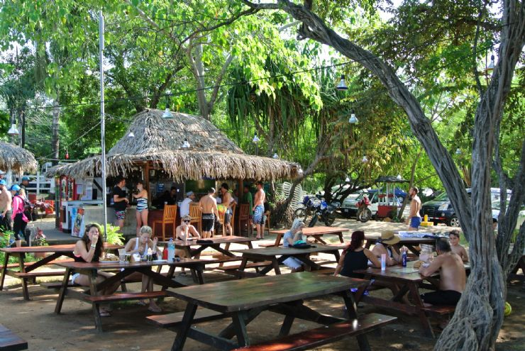 Beach bar at Tamarindo