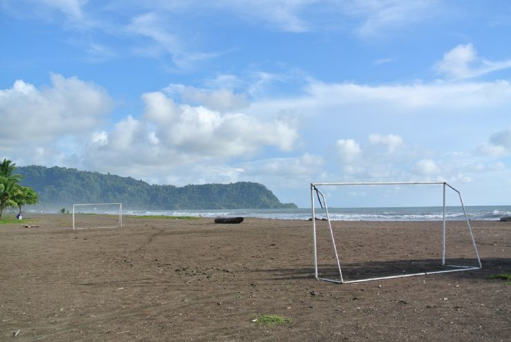 Soccer sand field at Jaco Beach, Best Western Hotel