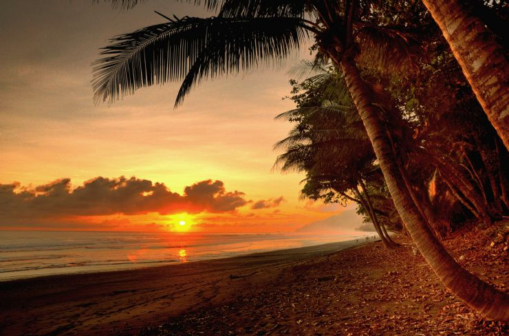 Beach Sunset at Corcovado National Park