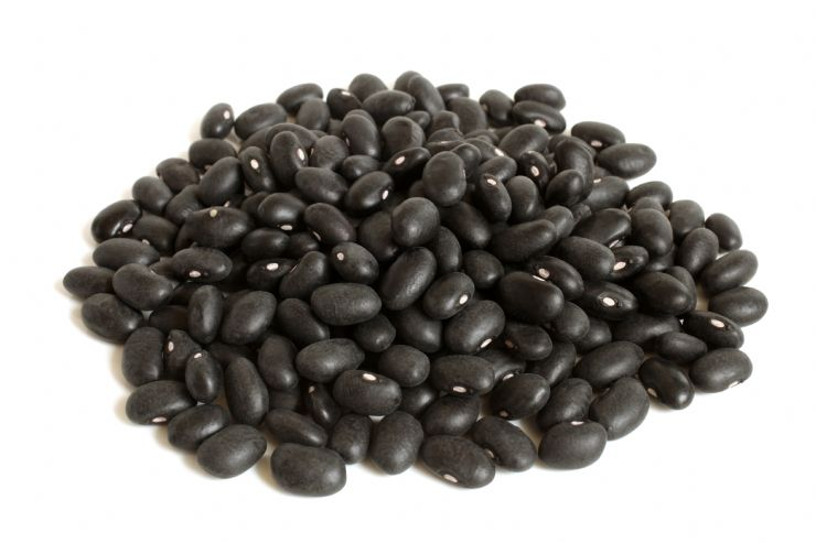 Black beans on market in San Jose
