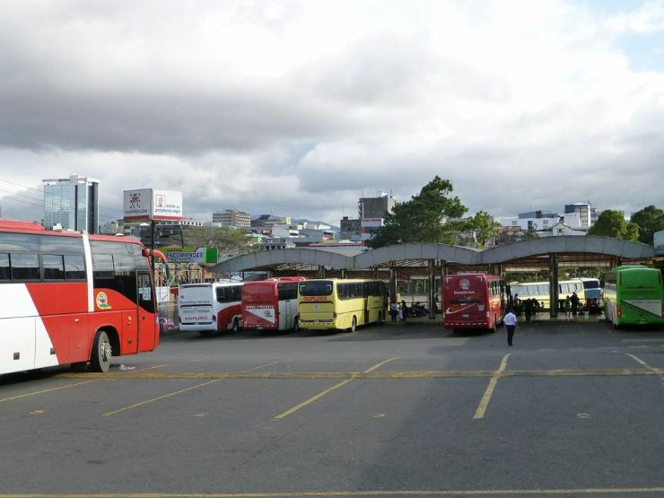 Buses in Caribbean Station in San Jose
