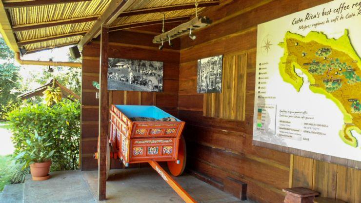 Costa Rican Carreta at Cafe Britt Coffee Tour Museum