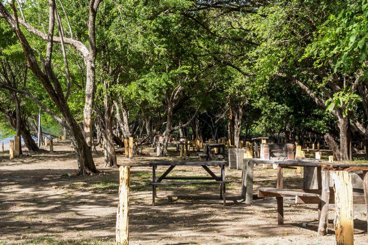 Camping / Picnic area at Playa Junquillal