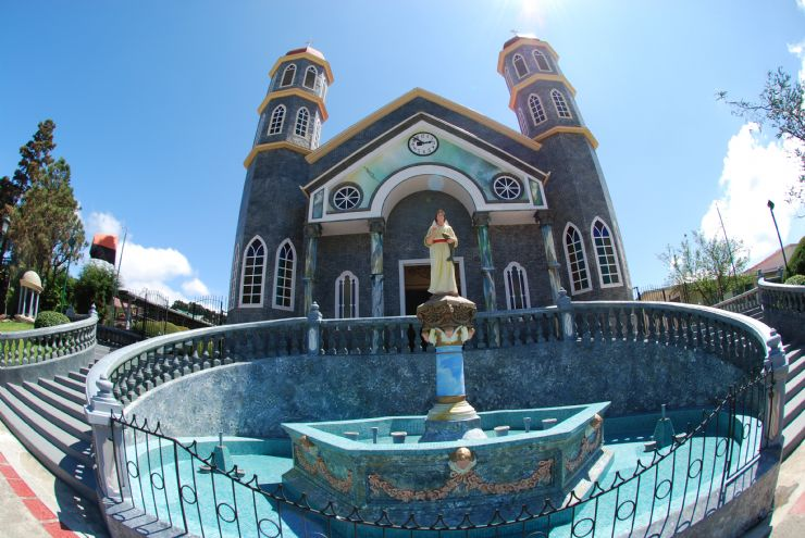 Beautiful church view in Zarcero, Alajuela
