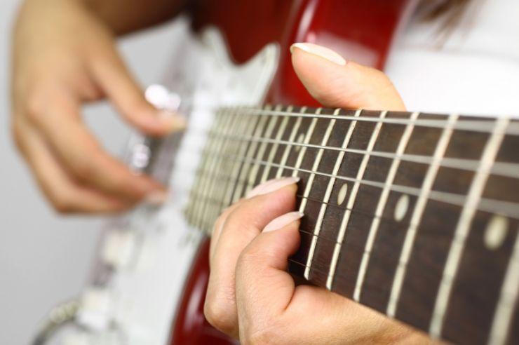 Guitarist Playing Rock Music