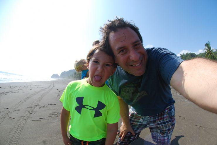 Having fun with the kids at Playa Hermosa