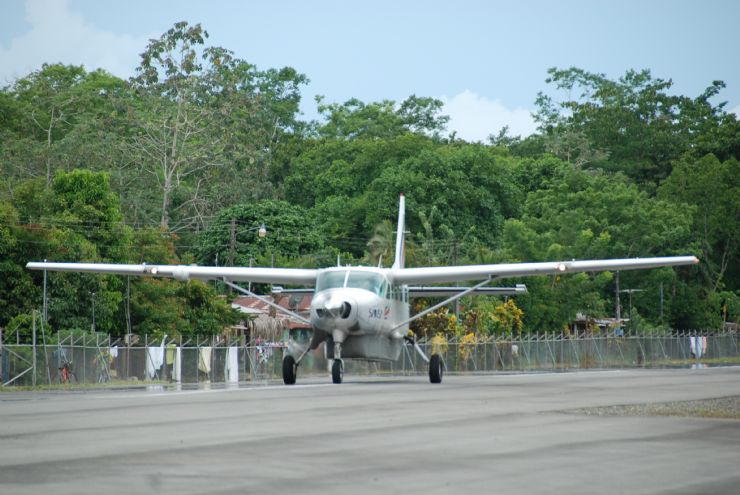 Flying out of Puerto Jimenez