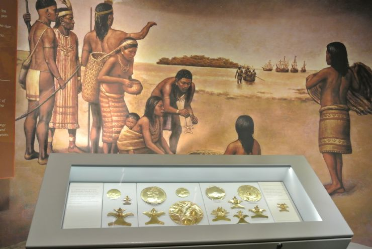 Precolumbian gold pieces made by Costa Rica indigenous, Gold Museum