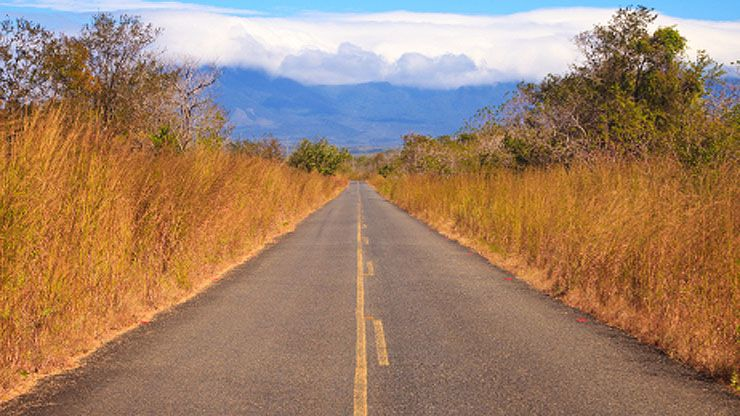 Driving to Guanacaste National Park