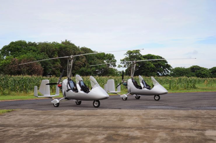 Couple of Gyroplanes in Quepos Airport