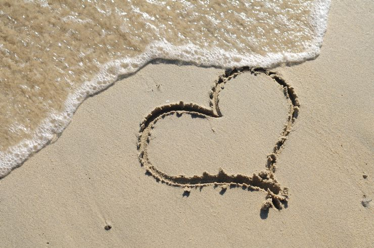 Romantic Heart in the Sand in Costa Rica