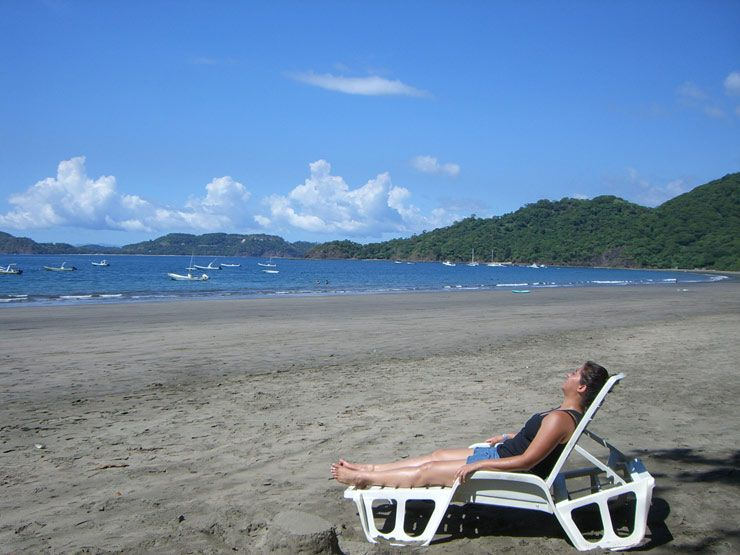 Relaxing at Playa Hermosa Guanacaste