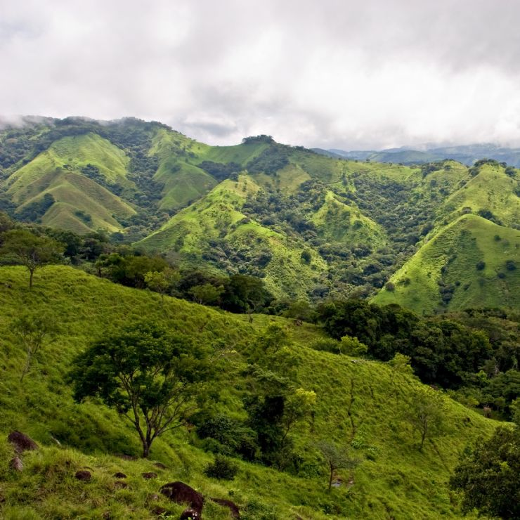 Beautiful view of hills in Monteverde