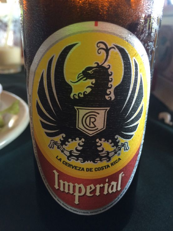 Ice cold Imperial beer at beach side restaurant in Playa Junquillal