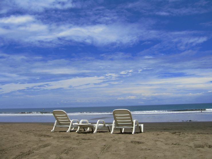 Jaco Beach relaxing chairs