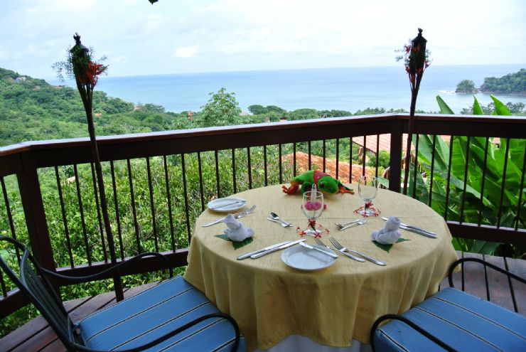 Romantic table with ocean view