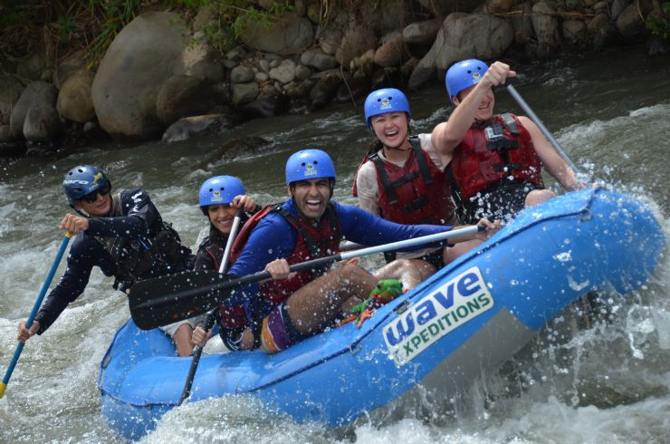 Javi the Frog on Balsa on the water rafting with Wave Expeditions