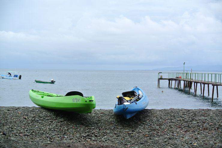 Playa Nicuesa Rainforest Lodge Kayaks in the ocean