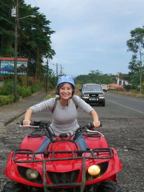 Riding an ATV near La Fortuna