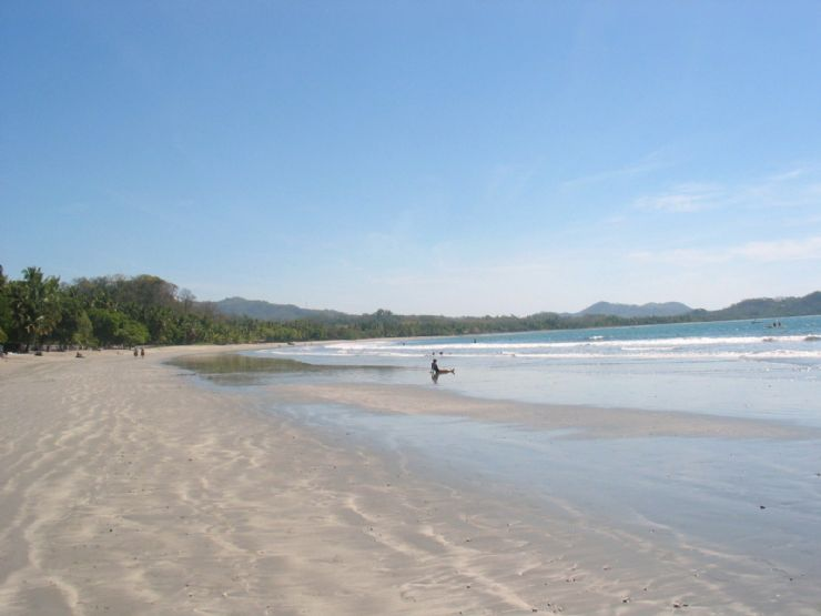 A long beach at Playa Samara