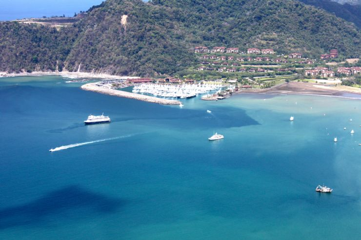 Beautiful view of Playa Herradura with Los Sueños Marriott