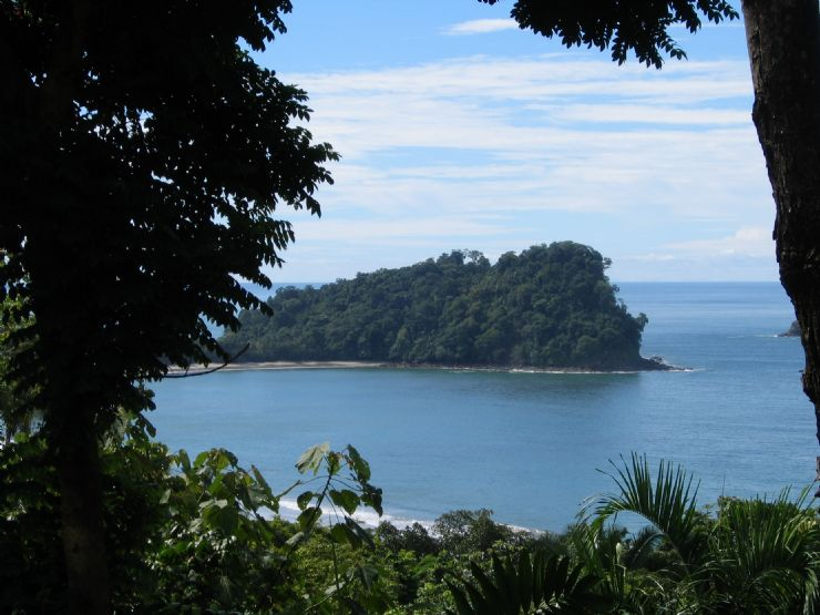 View point from a trail at Manuel Antonio National Park