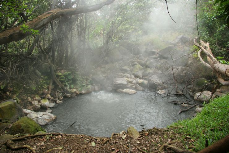 Bubbling mud pot in Rincon de la Vieja National Park