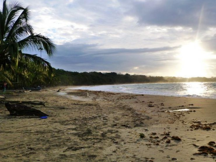 Beautiful sunset at Manzanillo beach, Limon