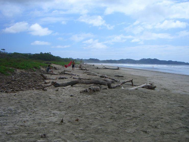 Looking south at Playa Guiones - Nosara Beach