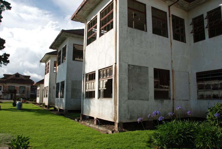 Old hospital exterior building at Duran Sanatorium, Cartago