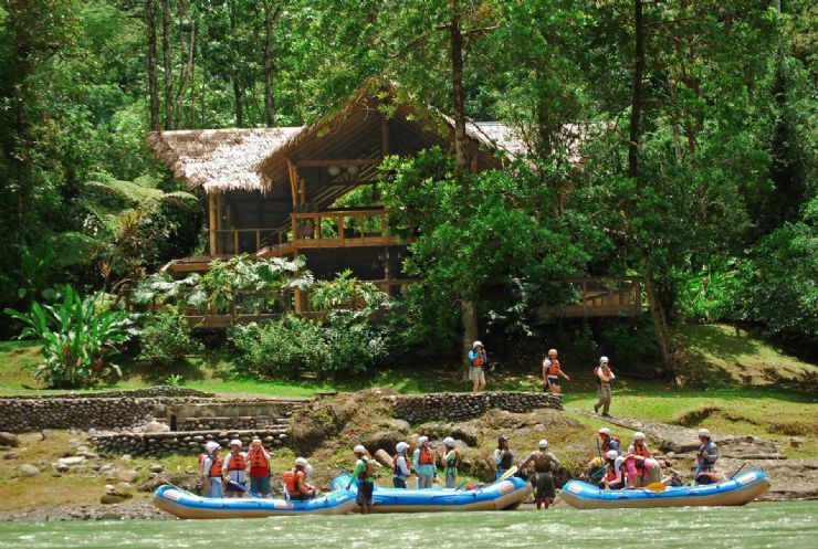 Pacuare Lodge along the Pacuare River perfect for white water rafting