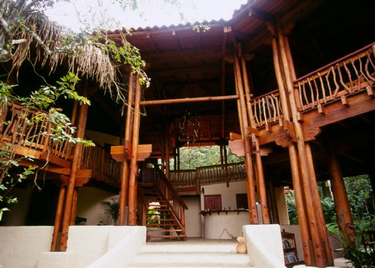 Beautiful main building at Playa Nicuesa Rainforest Lodge