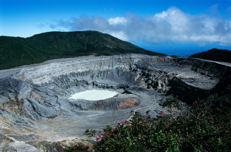 Beautiful Poas Volcano Crater