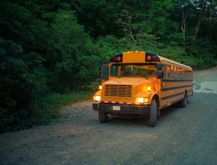 Public bus near Puerto Viejo