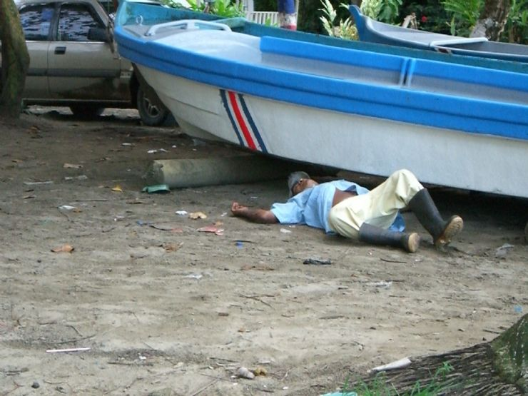 Taking a siesta in Puerto Viejo