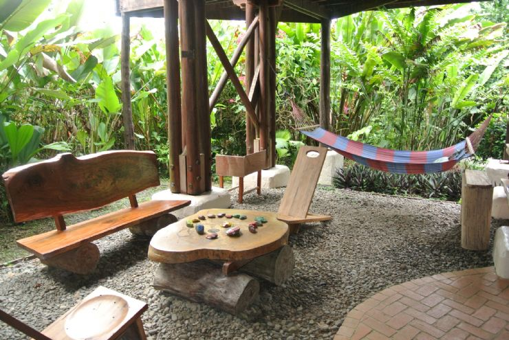 Relaxing are at Playa Nicuesa Rainforest Lodge front desk