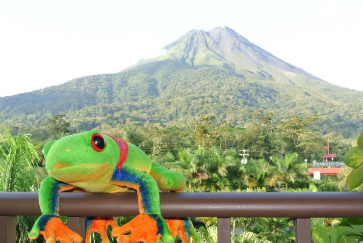Amazing Volcano room view from Royal Corin Hotel