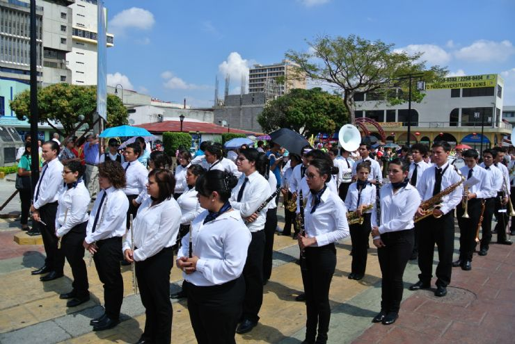 San Jose band in procession