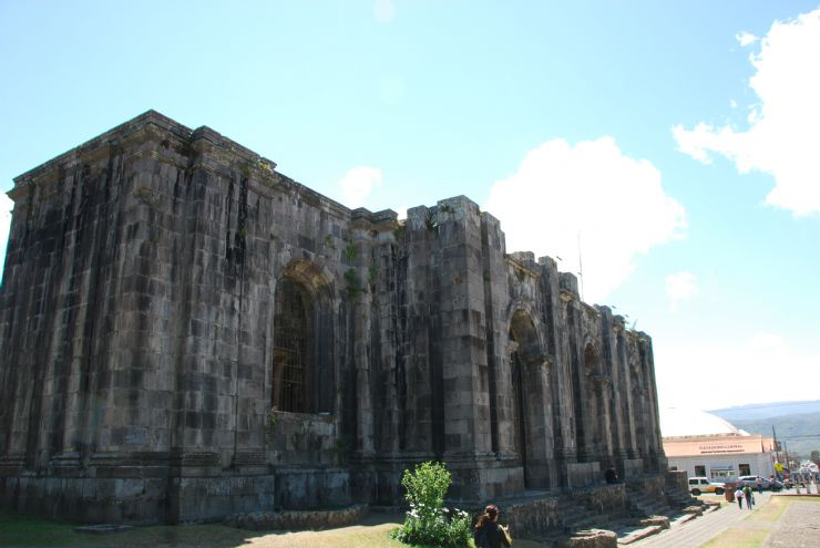 Full front of Cartago's ruins