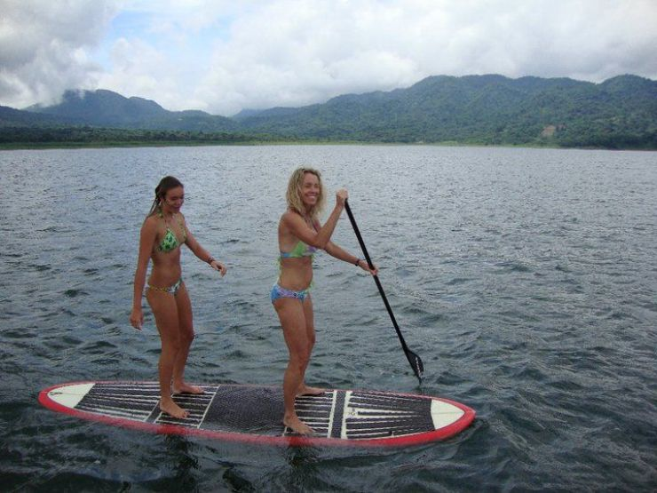 Stand up paddle boarding on Lake Arenal with Desafio Adventure Company