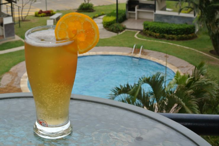 Grape fruit Summer Shandy drink