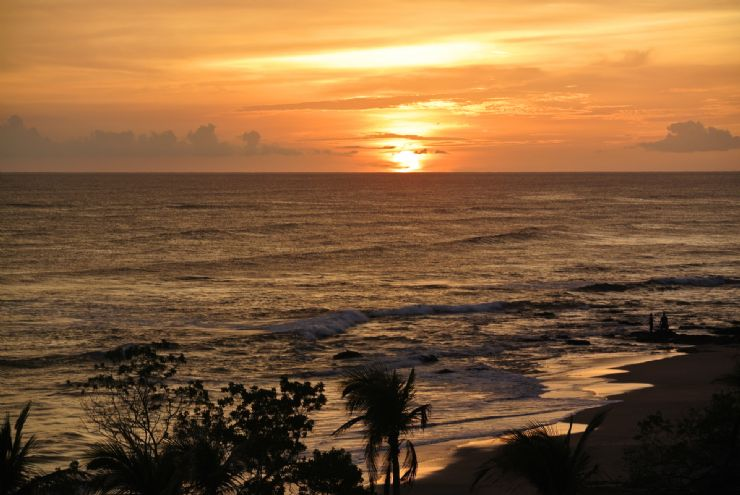 Spectacular sunset at Mansita Beach, Hacienda Pinilla